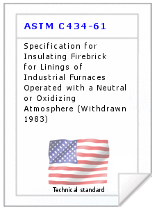 Technical standard ASTM C434-61