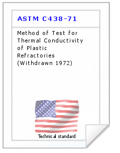 Technical standard ASTM C438-71