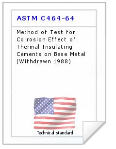Technical standard ASTM C464-64
