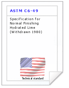 Technical standard ASTM C6-49