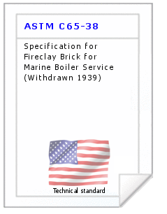 Technical standard ASTM C65-38