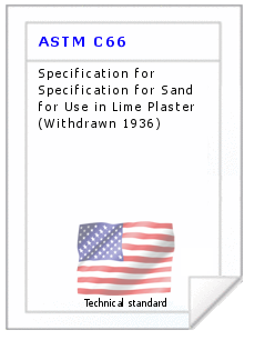 Technical standard ASTM C66