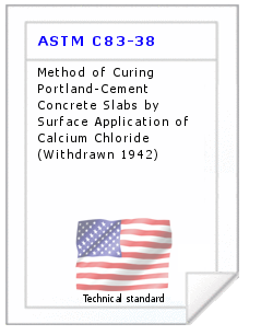 Technical standard ASTM C83-38
