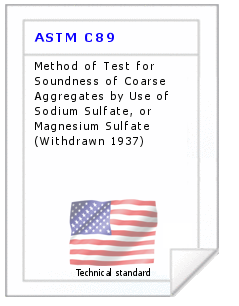 Technical standard ASTM C89