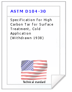 Technical standard ASTM D104-30