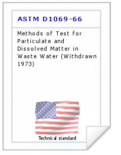 Technical standard ASTM D1069-66