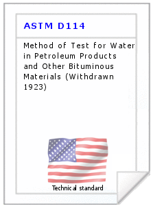 Technical standard ASTM D114
