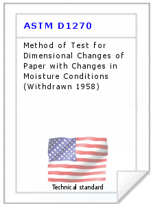 Technical standard ASTM D1270