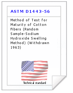 Technical standard ASTM D1443-56