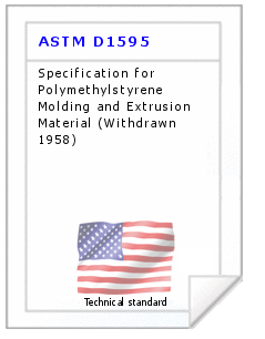 Technical standard ASTM D1595