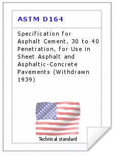 Technical standard ASTM D164