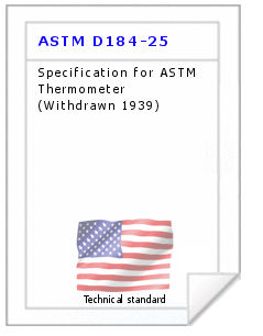 Technical standard ASTM D184-25