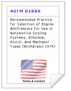 Technical standard ASTM D1880