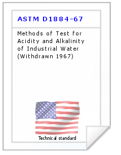 Technical standard ASTM D1884-67