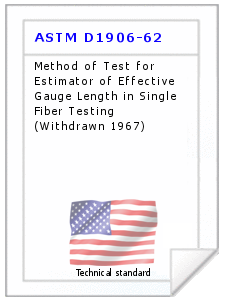 Technical standard ASTM D1906-62