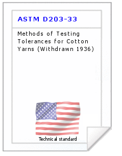 Technical standard ASTM D203-33