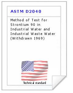Technical standard ASTM D2040
