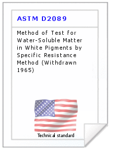 Technical standard ASTM D2089