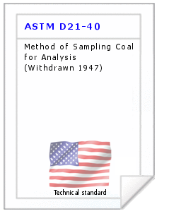 Technical standard ASTM D21-40