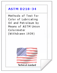 Technical standard ASTM D218-34