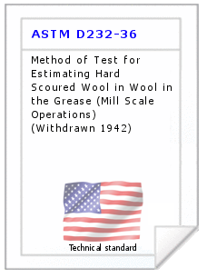 Technical standard ASTM D232-36