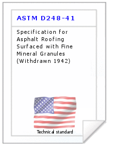Technical standard ASTM D248-41