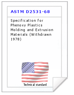 Technical standard ASTM D2531-68