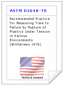 Technical standard ASTM D2648-70