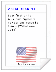 Technical standard ASTM D266-41