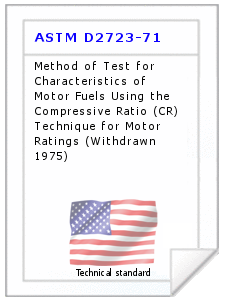 Technical standard ASTM D2723-71