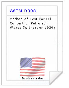 Technical standard ASTM D308
