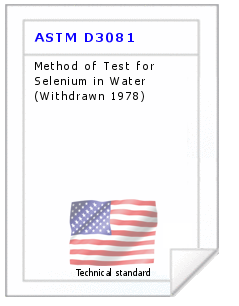 Technical standard ASTM D3081