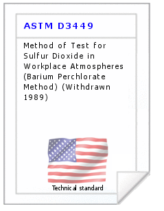 Technical standard ASTM D3449