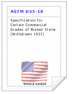 Technical standard ASTM D35-18
