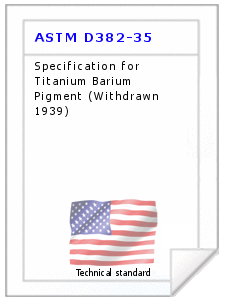 Technical standard ASTM D382-35