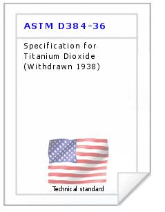 Technical standard ASTM D384-36