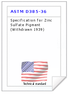 Technical standard ASTM D385-36