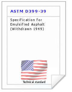Technical standard ASTM D399-39