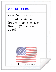 Technical standard ASTM D400