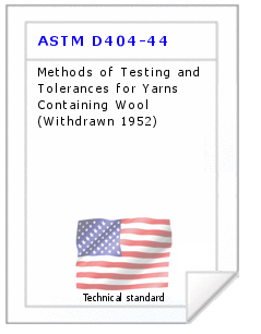 Technical standard ASTM D404-44