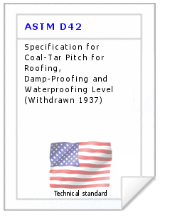 Technical standard ASTM D42
