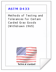Technical standard ASTM D433