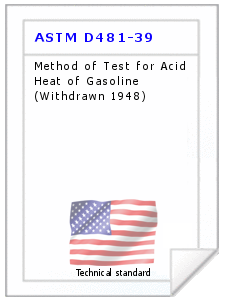 Technical standard ASTM D481-39