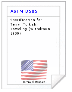 Technical standard ASTM D505