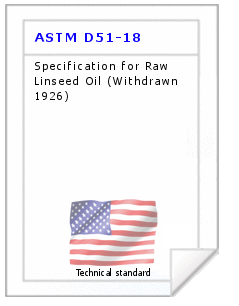 Technical standard ASTM D51-18