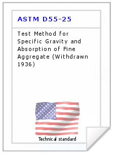 Technical standard ASTM D55-25
