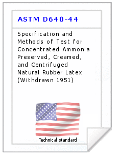 Technical standard ASTM D640-44