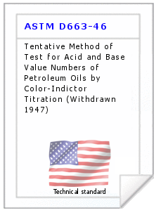 Technical standard ASTM D663-46