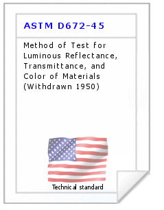 Technical standard ASTM D672-45