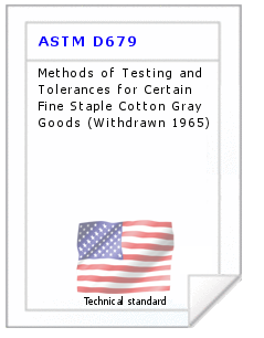 Technical standard ASTM D679